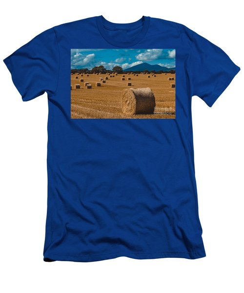 Straw Bale In A Field Men's T-Shirt (Athletic Fit)