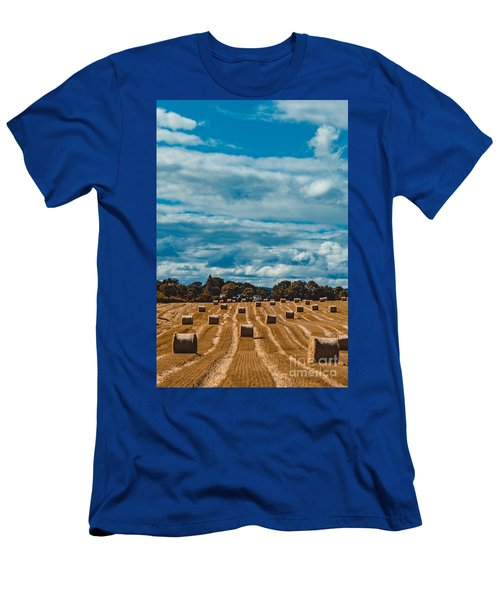Straw Bales In A Field 2 Men's T-Shirt (Athletic Fit)