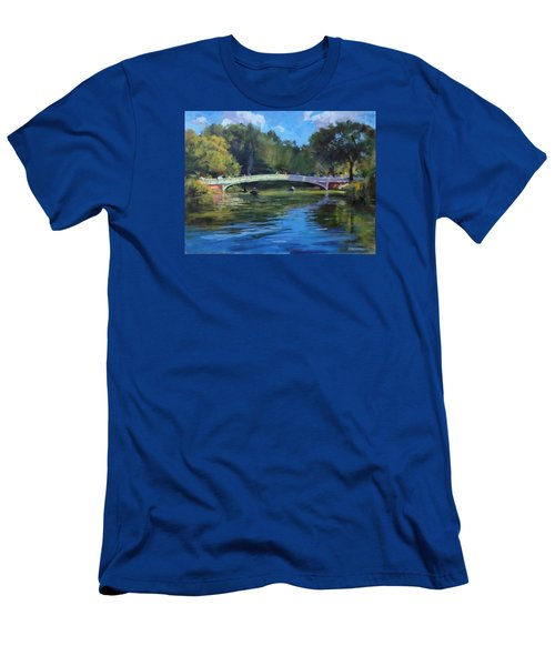 Summer Afternoon On The Lake, Central Park Men's T-Shirt (Athletic Fit)