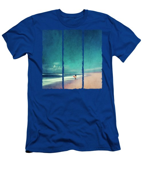 Summer Days - Abstract Seascape With Surfer Men's T-Shirt (Athletic Fit)