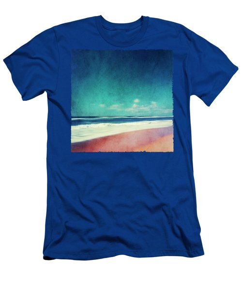 Summer Days IIi - Abstract Beach Scene Men's T-Shirt (Athletic Fit)
