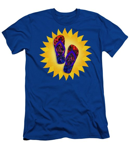 Summer Sunshine And Red Flip-flops     Men's T-Shirt (Athletic Fit)
