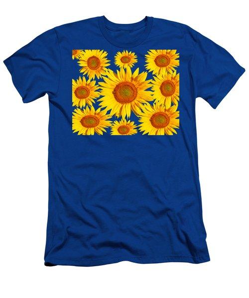 Sunflower Circle Men's T-Shirt (Athletic Fit)