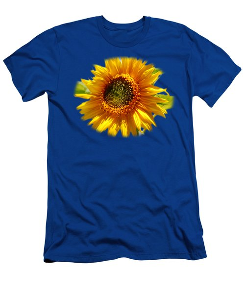 Sunny Sunflower Square Men's T-Shirt (Slim Fit) by Christina Rollo