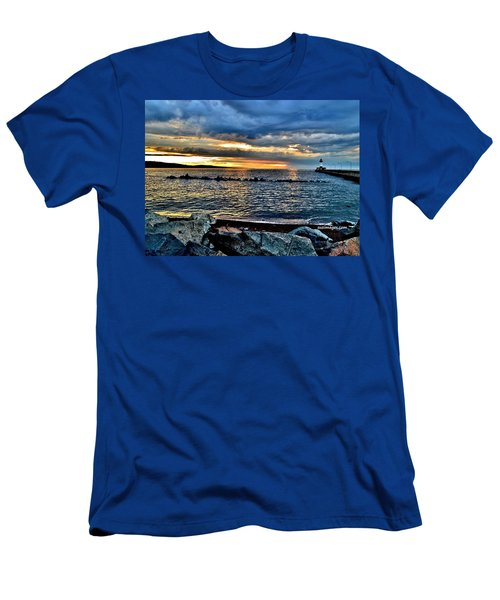 Sunrise On The Rocks Men's T-Shirt (Athletic Fit)
