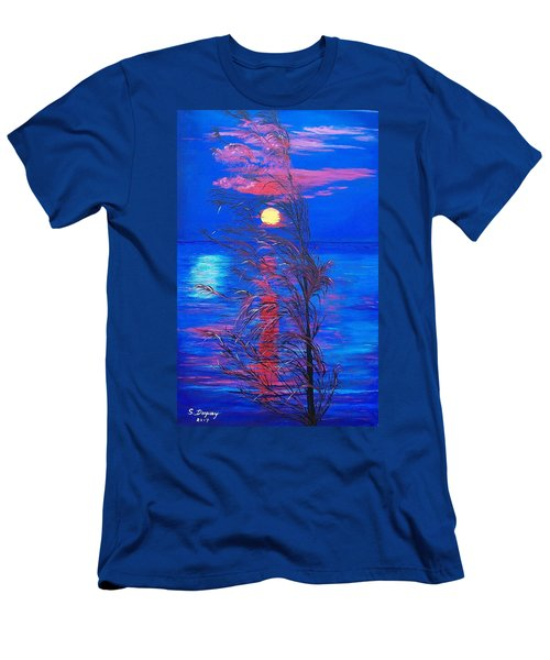 Men's T-Shirt (Slim Fit) featuring the painting Sunrise Silhouette by Sharon Duguay
