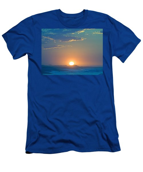 Men's T-Shirt (Slim Fit) featuring the photograph Sunrise Sky by  Newwwman