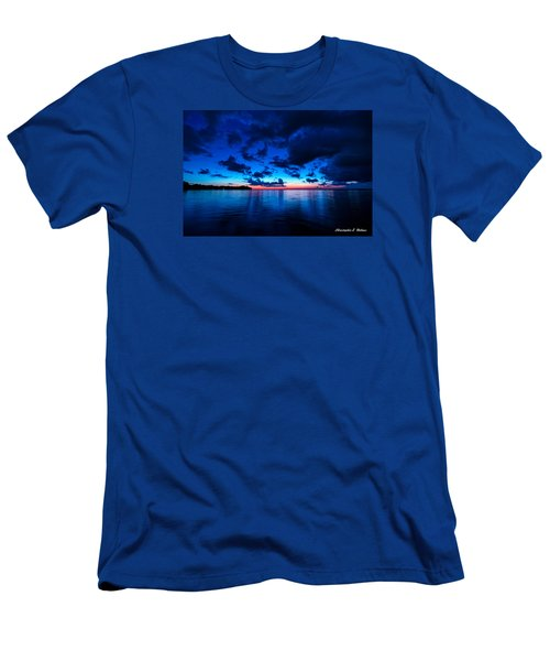 Men's T-Shirt (Slim Fit) featuring the photograph Sunset After Glow by Christopher Holmes