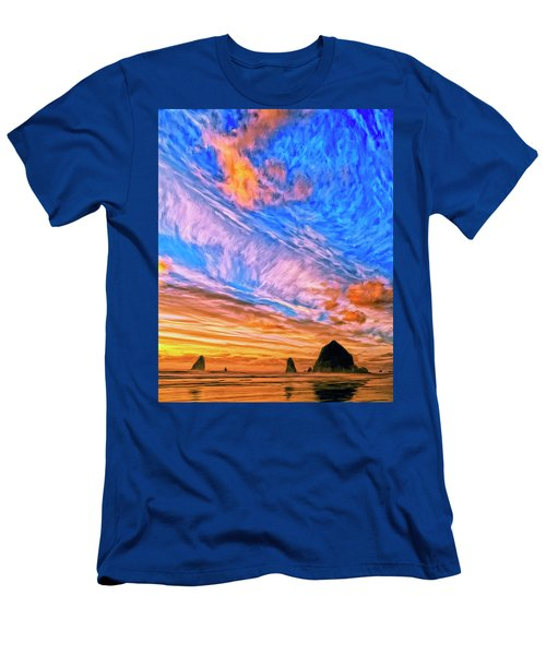 Sunset At Cannon Beach Men's T-Shirt (Athletic Fit)