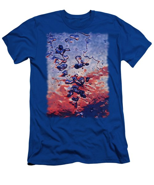 Sunset Flakes Men's T-Shirt (Athletic Fit)
