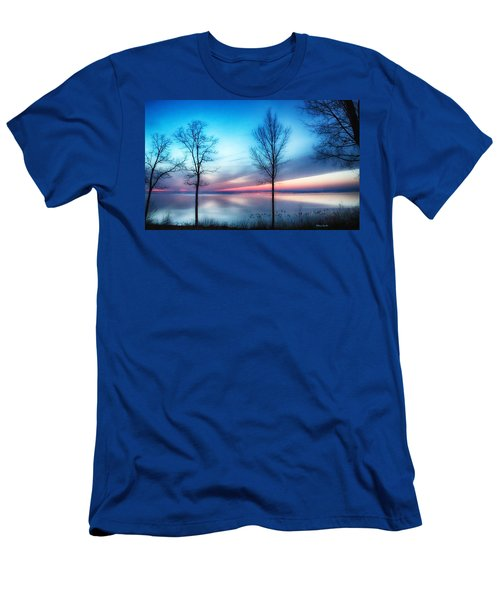 Sunset On The Diagonal Men's T-Shirt (Athletic Fit)
