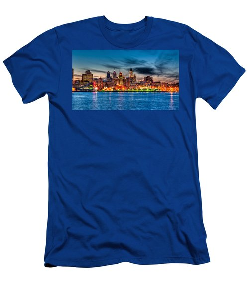 Sunset Over Philadelphia Men's T-Shirt (Athletic Fit)