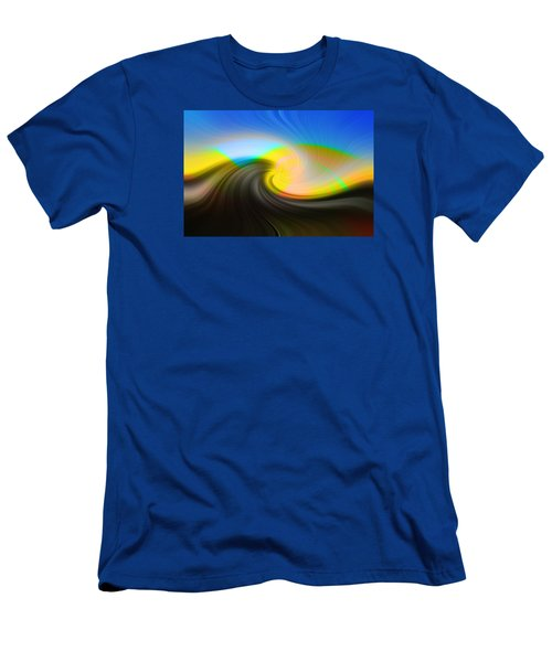 Men's T-Shirt (Slim Fit) featuring the photograph Sunset Over The Lake by Lewis Mann
