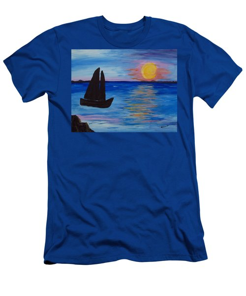 Sunset Sail Dark Men's T-Shirt (Athletic Fit)