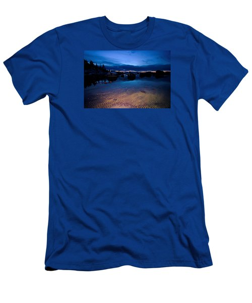 Sunset Sand Ripples Men's T-Shirt (Slim Fit) by Sean Sarsfield