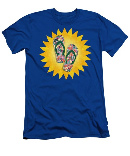 Sunshine And Colorful Abstract Flip-flops  Men's T-Shirt (Athletic Fit)