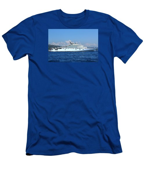 Men's T-Shirt (Slim Fit) featuring the photograph Super Yacht by Richard Patmore