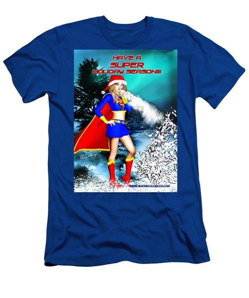 Supergirl Holiday Greeting Card Men's T-Shirt (Athletic Fit)