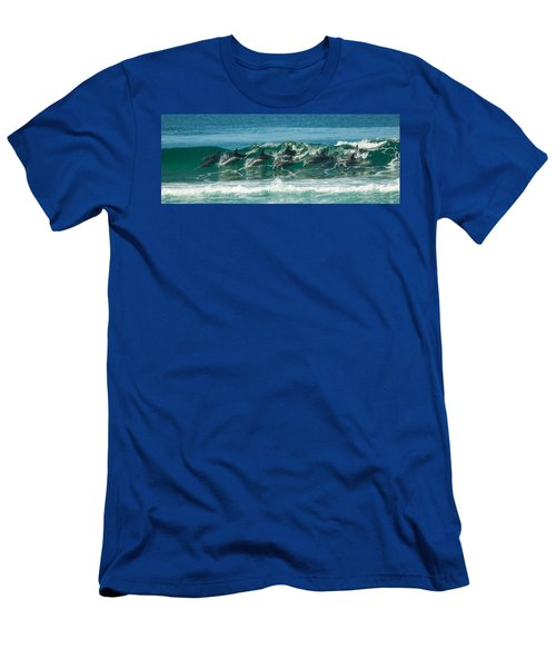 Surfing Dolphins 4 Men's T-Shirt (Athletic Fit)