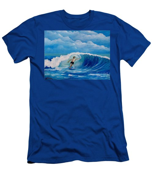 Surfing On The Waves Men's T-Shirt (Athletic Fit)