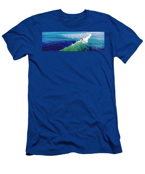 Surfs Up Daytona Beach Men's T-Shirt (Athletic Fit)