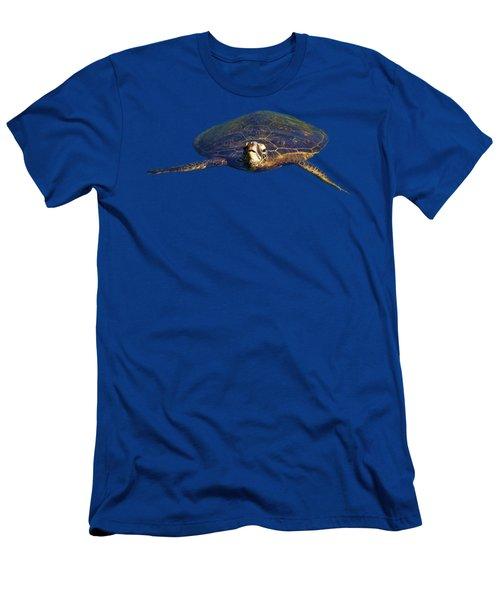 Swimming Turtle Men's T-Shirt (Slim Fit) by Pamela Walton