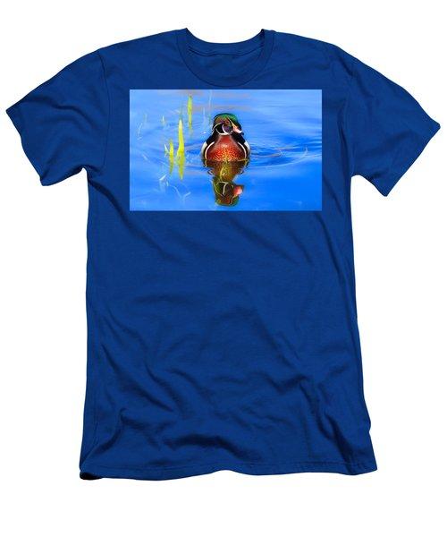 Swirls In The Reeds Men's T-Shirt (Slim Fit) by Lynn Hopwood