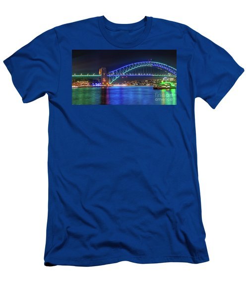 Sydney Harbour Green And Blue By Kaye Menner Men's T-Shirt (Athletic Fit)