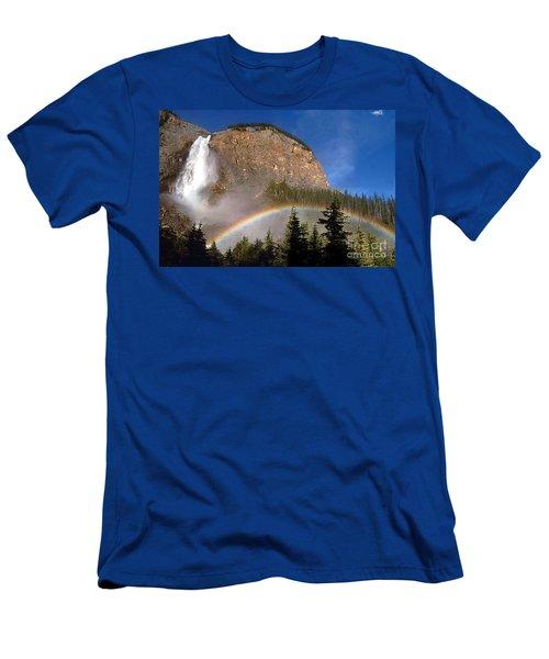Takakkaw Falls B C Canada   Men's T-Shirt (Slim Fit) by Rod Jellison