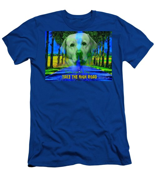 Men's T-Shirt (Athletic Fit) featuring the digital art Take The High Road by Kathy Tarochione