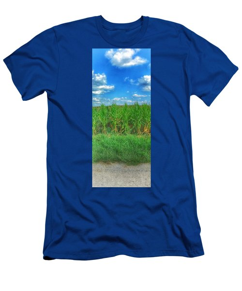 Men's T-Shirt (Slim Fit) featuring the photograph Tall Corn by Jame Hayes