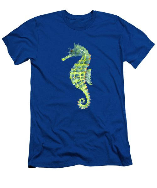 Teal Green Seahorse - Square Men's T-Shirt (Athletic Fit)