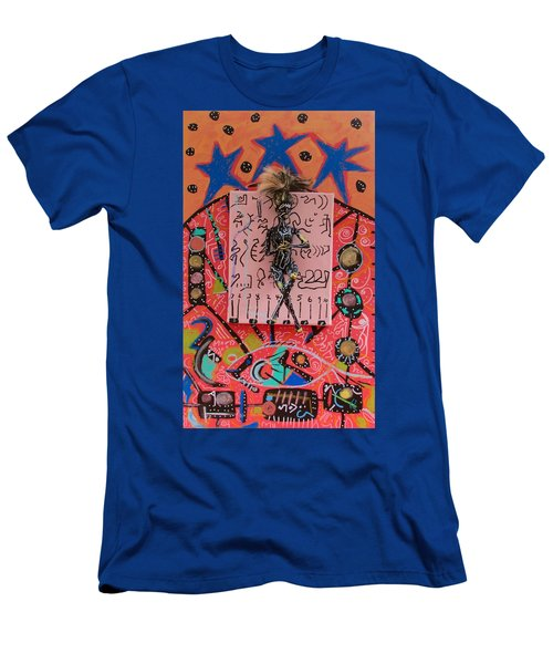 Men's T-Shirt (Slim Fit) featuring the painting Teasel Herbal Tincture by Clarity Artists