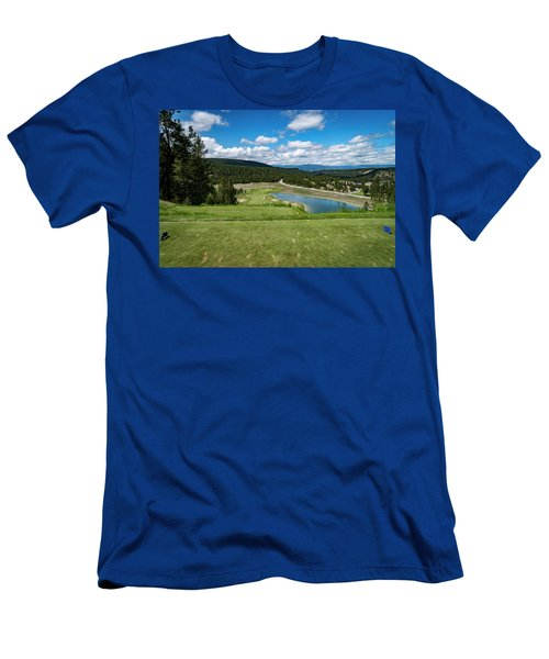 Men's T-Shirt (Slim Fit) featuring the photograph Tee Box With As View by Darcy Michaelchuk