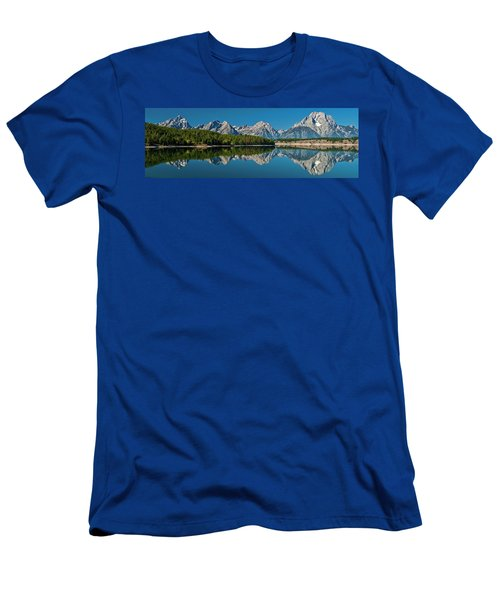 Men's T-Shirt (Athletic Fit) featuring the photograph Teton Reflections by Gary Lengyel