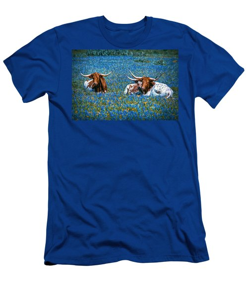 Texas In Blue Men's T-Shirt (Athletic Fit)