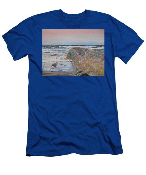 Texas - Padre Island Men's T-Shirt (Slim Fit) by Christine Lathrop