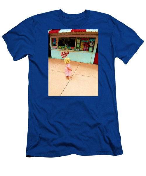 Men's T-Shirt (Slim Fit) featuring the photograph The Candy Store by Lanita Williams
