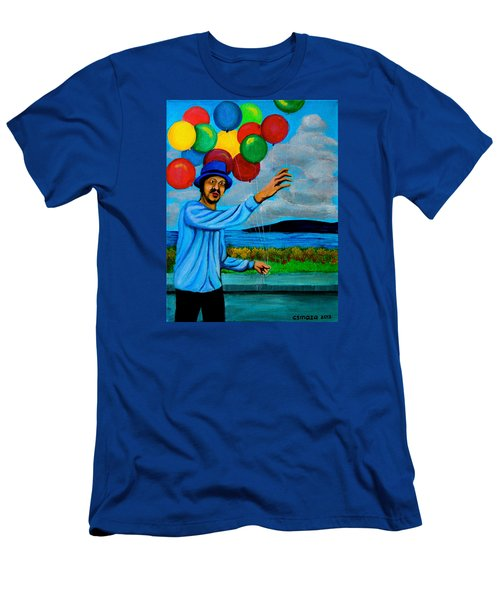 The Balloon Vendor Men's T-Shirt (Slim Fit) by Cyril Maza
