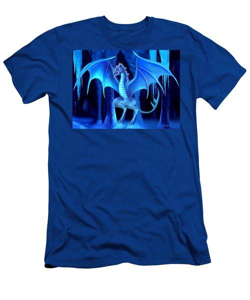The Blue Ice Dragon Men's T-Shirt (Slim Fit)