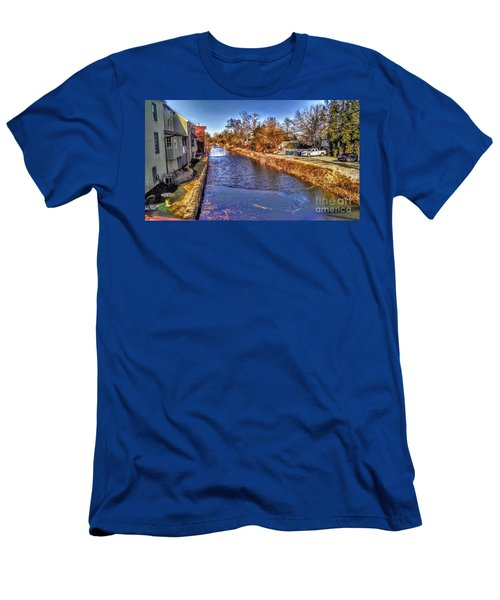 The Canal At New Hope In Winter Men's T-Shirt (Athletic Fit)
