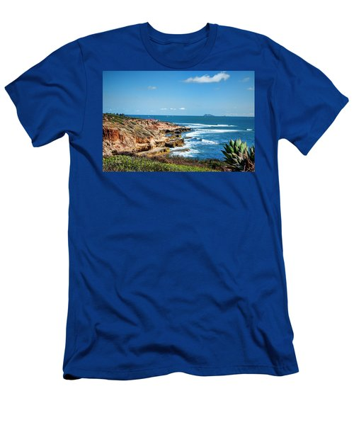 Men's T-Shirt (Slim Fit) featuring the photograph The Cliffs Of Point Loma by Daniel Hebard