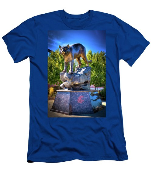 The Cougar Pride Sculpture Men's T-Shirt (Slim Fit) by David Patterson
