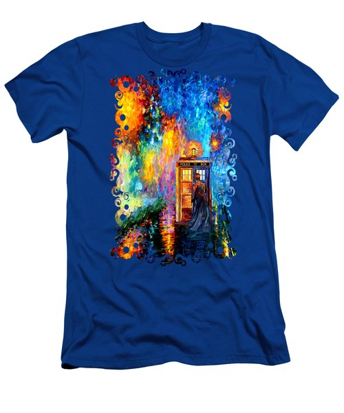 The Doctor Lost In Strange Town Men's T-Shirt (Slim Fit) by Three Second