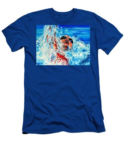 Men's T-Shirt (Athletic Fit) featuring the painting The Dream Becomes Reality by Hanne Lore Koehler