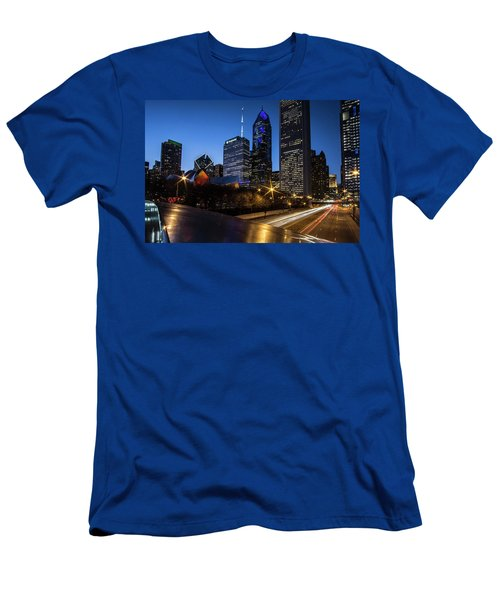 The East Side Skyline Of Chicago  Men's T-Shirt (Athletic Fit)
