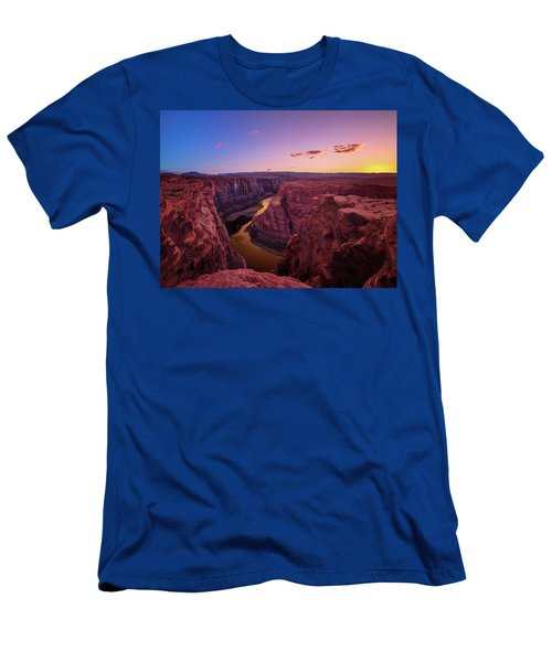 Men's T-Shirt (Athletic Fit) featuring the photograph The Golden Canyon by Edgars Erglis