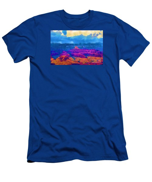 The Grand Canyon Alive In Color Men's T-Shirt (Slim Fit) by Kirt Tisdale