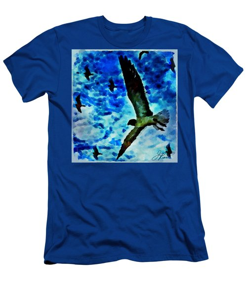Men's T-Shirt (Athletic Fit) featuring the painting The Great Seagull by Joan Reese