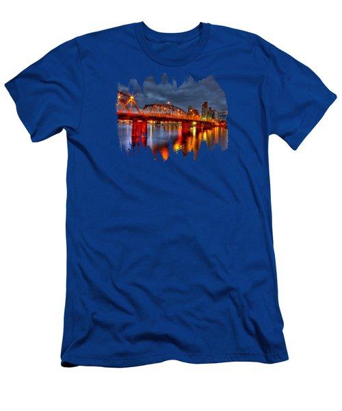 The Hawthorne Bridge - Pdx Men's T-Shirt (Athletic Fit)